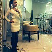 """Одежда handmade. Livemaster - original item Платье с запАхом """"Крем-брюле"""" выше колена,длинный рукав. Handmade."""