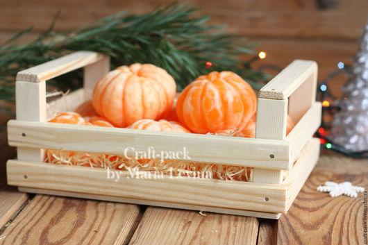 Упаковка ручной работы. Ярмарка Мастеров - ручная работа. Купить Деревянный ящик с ручками # 2. Handmade. Бежевый