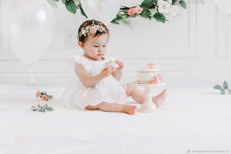 Детский веночек Flower girl pink, Украшения, Краснодар, Фото №1