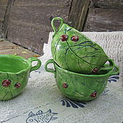Посуда ручной работы. Ярмарка Мастеров - ручная работа бульонницы. Handmade.