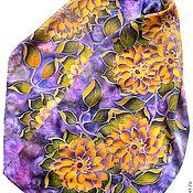 Scarves handmade. Livemaster - original item Batik scarf