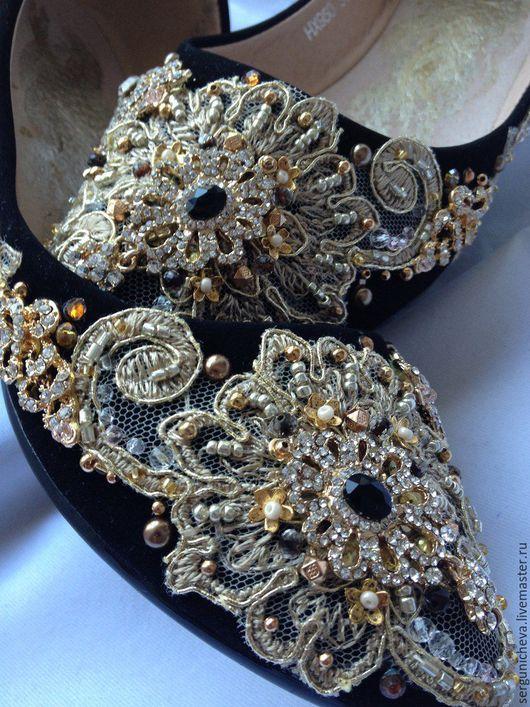 """Обувь ручной работы. Ярмарка Мастеров - ручная работа. Купить Балетки""""Starfall""""в стиле DG. Handmade. Комбинированный, дольче габбана"""