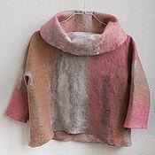 Одежда ручной работы. Ярмарка Мастеров - ручная работа Валяный джемпер Утренние облака. Handmade.