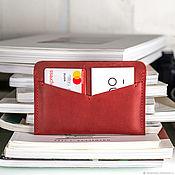 Канцелярские товары handmade. Livemaster - original item Leather holder for driving license card and passport cover. Handmade.