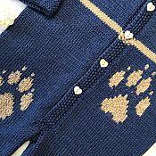 Работы для детей, handmade. Livemaster - original item Jumpsuit for babies with legs. Handmade.