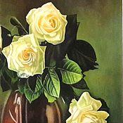 Картины и панно handmade. Livemaster - original item Picture: Tea roses.. Handmade.