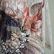 Одежда ручной работы. Ярмарка Мастеров - ручная работа Туника 2095 павлин кружево. Handmade.