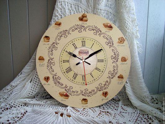 """Часы для дома ручной работы. Ярмарка Мастеров - ручная работа. Купить Часы для кухни  """"Шоколадное настроение"""". Handmade. Прованс"""