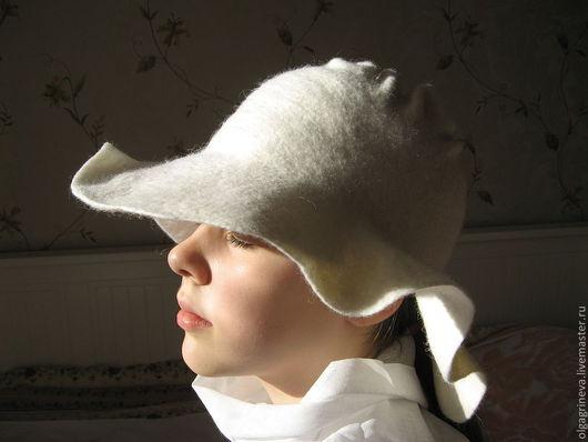 Шляпы ручной работы. Ярмарка Мастеров - ручная работа. Купить Дамская шляпка белая. Handmade. Белый, фетровая шляпа