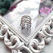 Украшения handmade. Livemaster - original item Ring with Swarovski crystal. Handmade.