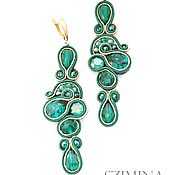 Украшения handmade. Livemaster - original item Soutache earrings prom Gift.. Handmade.