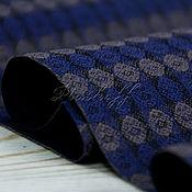 Аксессуары handmade. Livemaster - original item Blue narrow men`s wool scarf