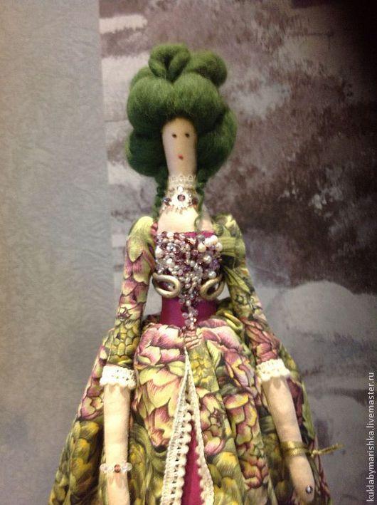 """Коллекционные куклы ручной работы. Ярмарка Мастеров - ручная работа. Купить Мадам """"Артишок"""". Handmade. Зеленый, ручная работа handmade"""
