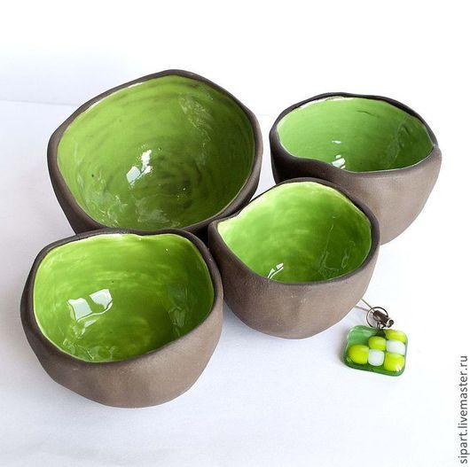 """Пиалы ручной работы. Ярмарка Мастеров - ручная работа. Купить Пиала """"Весенняя Зелень"""". Handmade. Ярко-зелёный, для дома и интерьера"""