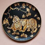 """Картины и панно ручной работы. Ярмарка Мастеров - ручная работа панно """"Тигрята"""". Handmade."""