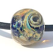 """Украшения ручной работы. Ярмарка Мастеров - ручная работа Кулон """"Космический вихрь"""", на шнуре, лэмпворк. Handmade."""