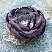 """Украшения ручной работы. Ярмарка Мастеров - ручная работа Заколка - цветок """"Лиловое спокойствие"""". Handmade."""