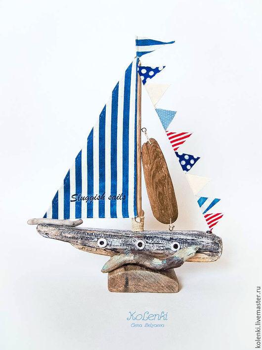 Статуэтки ручной работы. Ярмарка Мастеров - ручная работа. Купить Яхта driftwood/дрифтвуд. Handmade. Комбинированный, driftwood, морская тема