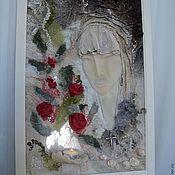 """Картины и панно ручной работы. Ярмарка Мастеров - ручная работа Панно  """" Молитва """". Handmade."""