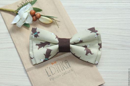 """Галстуки, бабочки ручной работы. Ярмарка Мастеров - ручная работа. Купить Галстук-бабочка """"Шоколадные мишки"""", 11 или 9см. Handmade."""