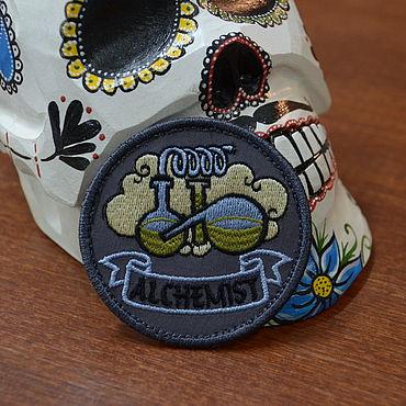 Субкультуры ручной работы. Ярмарка Мастеров - ручная работа Патч Алхимик или самогонный аппарат с липучкой. Handmade.