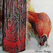 """Одежда ручной работы. Ярмарка Мастеров - ручная работа шелковое платье """"перья"""". Handmade."""