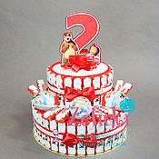 Сувениры и подарки ручной работы. Ярмарка Мастеров - ручная работа Торт из киндеров в школу садик на выпускной день рождения 2 года. Handmade.