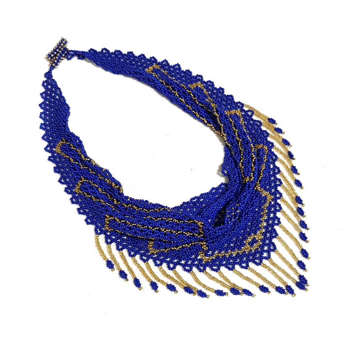 Necklaces & Beads handmade. Livemaster - handmade. Buy Necklace kerchief beaded blue 'Sapphire' earrings.Gold, solitaire beaded