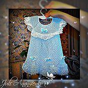 Работы для детей, ручной работы. Ярмарка Мастеров - ручная работа Ажурное платье для девочки 1-2 лет. Handmade.