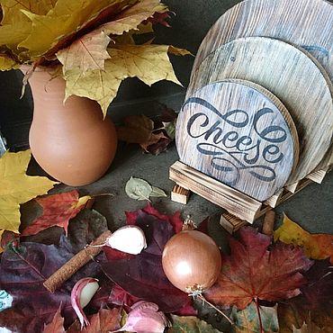 """Для дома и интерьера ручной работы. Ярмарка Мастеров - ручная работа Набор разделочные досок """"Мясо, рыба, сыр"""". Handmade."""
