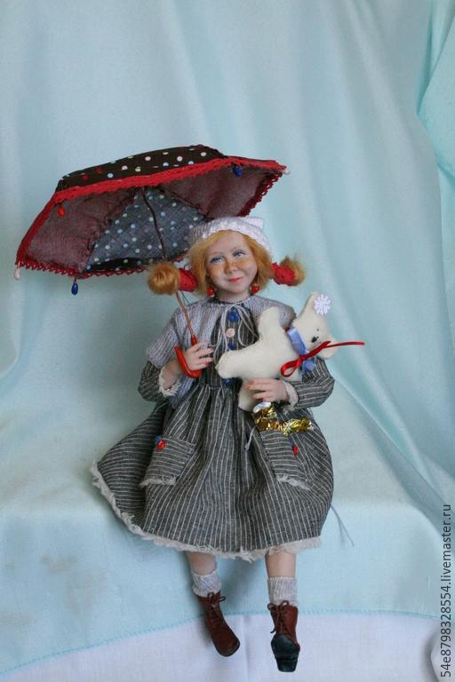 Коллекционные куклы ручной работы. Ярмарка Мастеров - ручная работа. Купить Счастливое детство. Handmade. Разноцветный, натуральные волосы, аксесуары