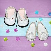 Инструменты для кукол и игрушек ручной работы. Ярмарка Мастеров - ручная работа Туфли белые. Обувь для кукол.. Handmade.