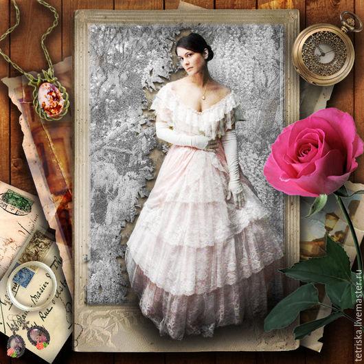 Фото-работы ручной работы. Ярмарка Мастеров - ручная работа. Купить винтажная открытка. Handmade. Комбинированный, винтажный стиль