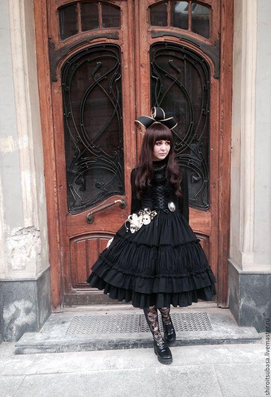 Платья ручной работы. Ярмарка Мастеров - ручная работа. Купить Роскошное готическое платье (D24/CW12). Handmade. Черный, длинное платье