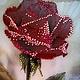 Картины цветов ручной работы. Ярмарка Мастеров - ручная работа. Купить Роза, картина , стразы. Handmade. Цветы, красный, интерьер
