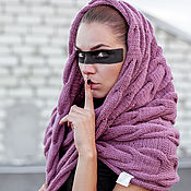 Аксессуары handmade. Livemaster - original item Snood with braids. Handmade.