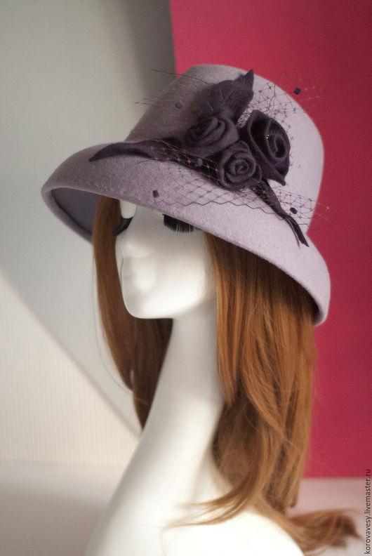 """Шляпы ручной работы. Ярмарка Мастеров - ручная работа. Купить """"Жозефина"""". Handmade. Лаванда, стиль Тиффани, лиловый, бисер"""