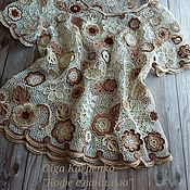 Одежда handmade. Livemaster - original item Knitted jacket Coffee with vanilla. Handmade.