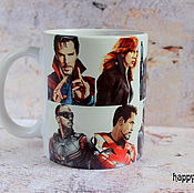 Посуда handmade. Livemaster - original item Mug marvel Avengers the Avengers Thor spider-Man Doctor strange. Handmade.