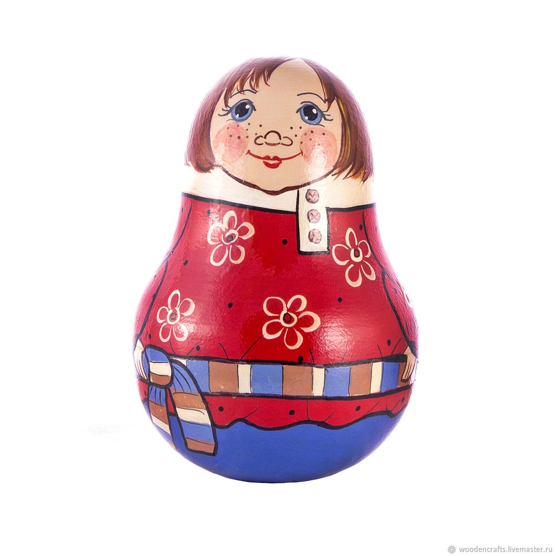 Неваляшка деревянная со звоном Ванька встанька, Игрушки, Москва, Фото №1