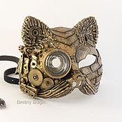 Субкультуры ручной работы. Ярмарка Мастеров - ручная работа Маска кошка стимпанк. Handmade.