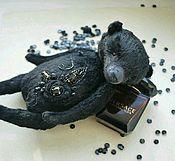 Куклы и игрушки ручной работы. Ярмарка Мастеров - ручная работа мишка Черный кристалл. Handmade.