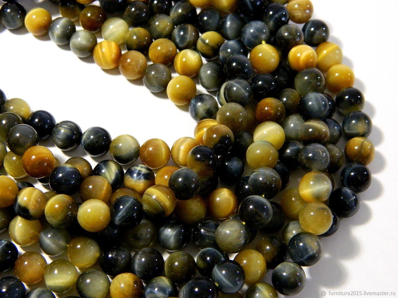 Hawkeye beads, natural beads Amulet, Amulet, Beads1, Saratov,  Фото №1