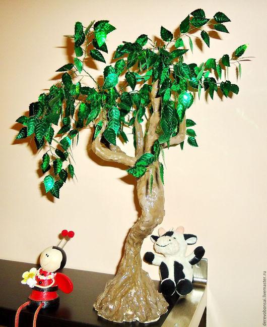 """Бонсай ручной работы. Ярмарка Мастеров - ручная работа. Купить Бонсай """"Дерево счастья"""". Handmade. Бонсай, подарок девушке, для офиса"""