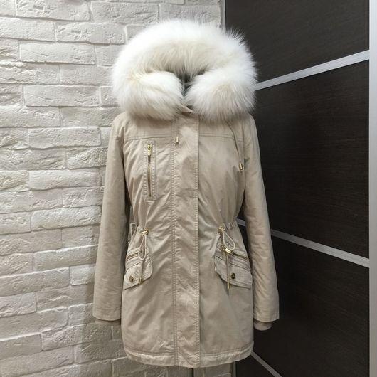 Верхняя одежда ручной работы. Ярмарка Мастеров - ручная работа. Купить Парка с арктической лисой, утеплённая стриженной норкой полностью. Handmade.