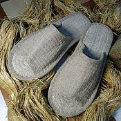 Обувь ручной работы handmade. Livemaster - original item Homemade hemp slippers with an open nose. Handmade.