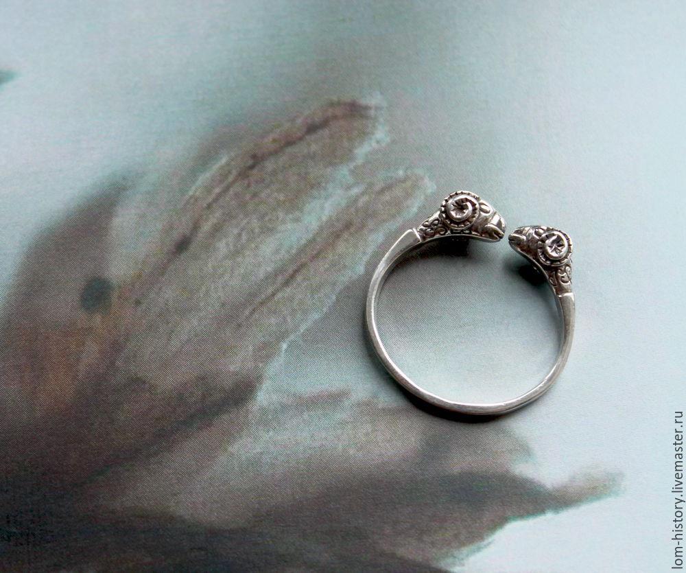 Кольцо серебро «Овен» / кольцо серебро / кольцо из серебра / кольцо из серебра с овнами