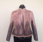 """Одежда ручной работы. Ярмарка Мастеров - ручная работа Авторский валяный жакет """"Pink flamingo"""". Handmade."""