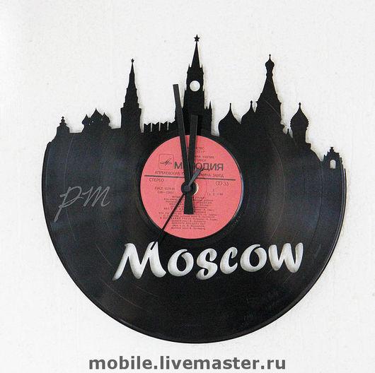 Часы для дома ручной работы. Ярмарка Мастеров - ручная работа. Купить часы Москва. Handmade. Часы интерьерные, виниловая пластинка