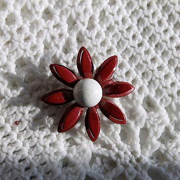 Винтаж ручной работы. Ярмарка Мастеров - ручная работа Небольшая винтажная брошь с эмалью. Handmade.